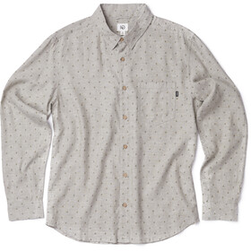 tentree Mancos LS Button Up Shirt Men heathered vetiver-tree dobby olive night